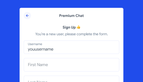 Signup for Premium.Chat