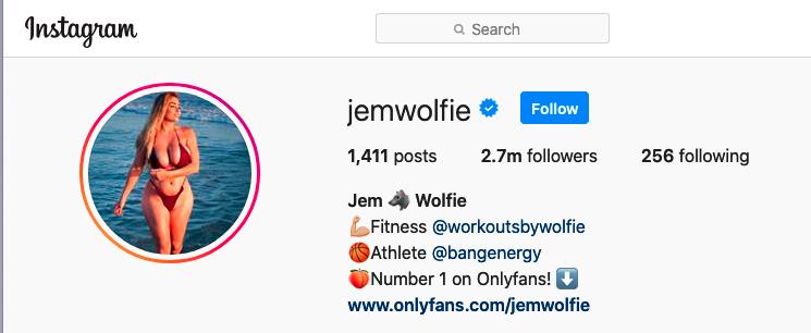 Jem Wolfie Instagram