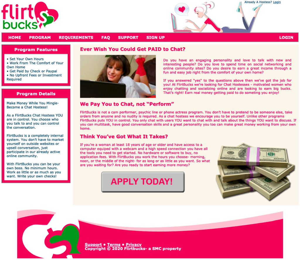 flirtbucks homepage