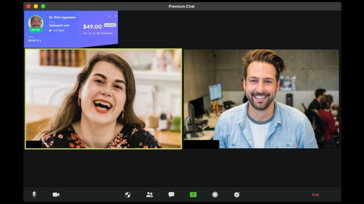 paid video chat example