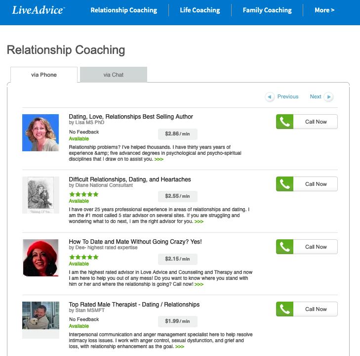 liveadvice.com  platform advisors