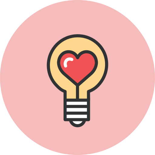 love passion bulb with heart