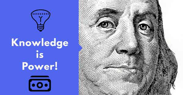 Benjamin Franklin Knowledge is Power